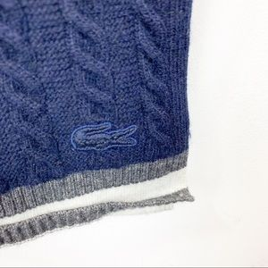 Lacoste Cable Knitted Scarf